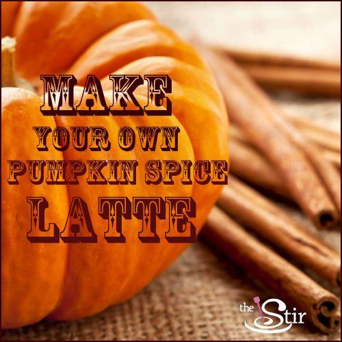 Easy Homemade Pumpkin Spice Latte That's A LOT Cheaper Than Starbucks