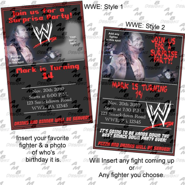 WWE Birthday Invitations could be nice ideas for your invitation template