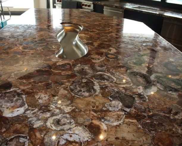 Petrified Wood Countertop Primitive Kitchen Pinterest