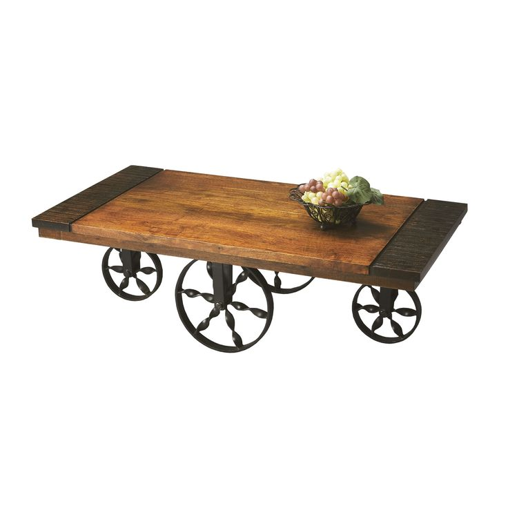 Rolling Cart Coffee Table