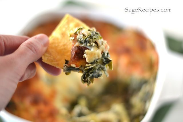 Skinny Spinach and Artichoke Dip by sagerecipe: If you want to be ...