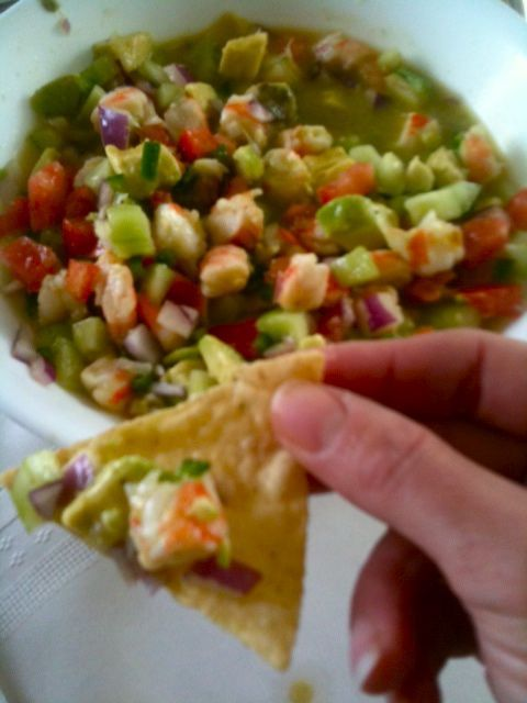 Shrimp Ceviche w/ Avocado, yummm - definitely in the mood for this ...