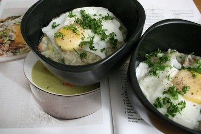 Bacon & Leek Risotto with Poached Eggs | The Breakfast Club | Pintere ...