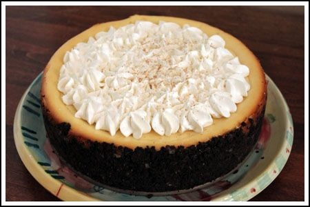 Eggnog Cheesecake with Oreo crust | Holidays: Christmas Recipes | Pin ...