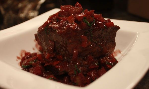 Winter Feast of Short Ribs with Red Wine and Risotto alla Marchigiana