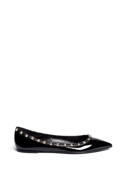 valentino noir patent leather rockstud