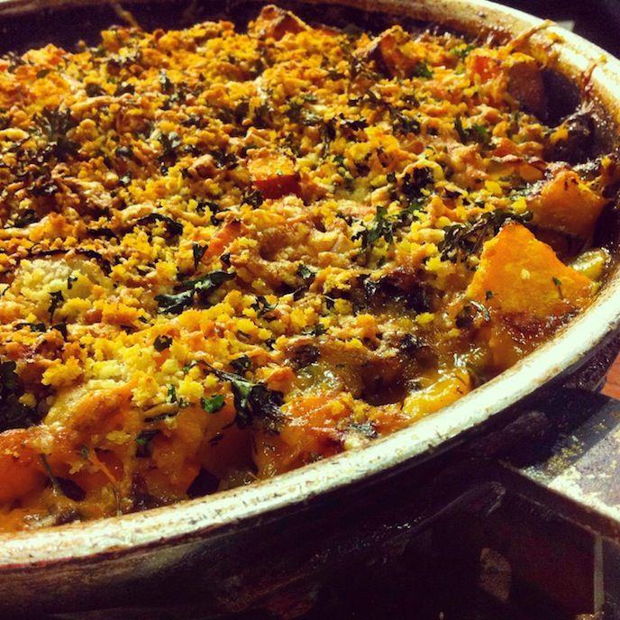 Butternut Squash And Sweet Potato Gratin Recipe — Dishmaps