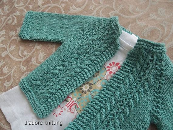 Top Down Knitting Patterns : Bienvenue top down cardigan knitting pattern PDF file