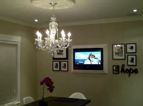 Home Decorating on Framed Tv   Home Decor And Ideas