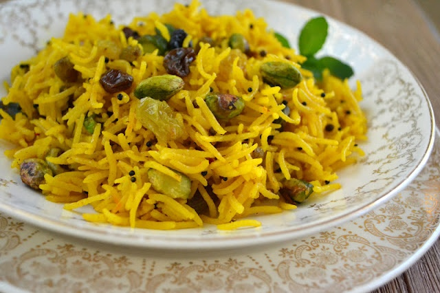 Indian Style Saffron Rice, via The View From Great Island
