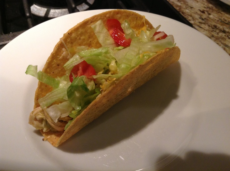 SLOWCOOKER SALSA VERDE CHICKEN TACOS Place 2-4 chicken breasts, whole ...