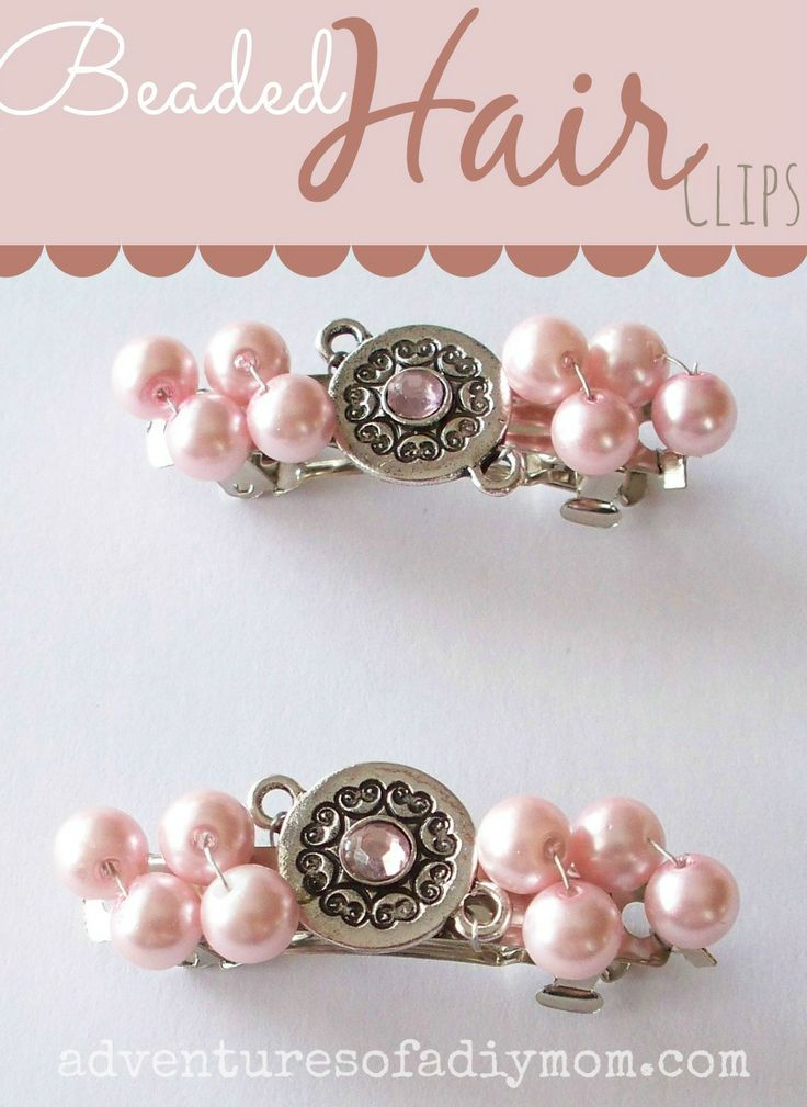 How to Make Beaded Hair Clips | Beading Crafts | Pinterest