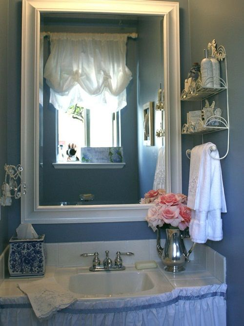 Pin by nancy collier on home sweet home pinterest for Country chic bathroom ideas