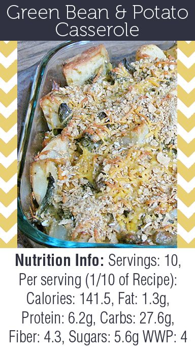 This Skinny Green Bean & Potato Casserole is the perfect addition to ...
