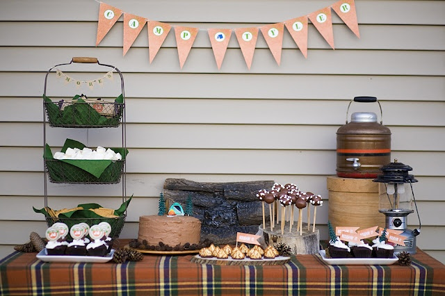 Camping Birthday Party  kids  Pinterest