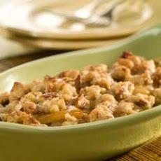 Cinnamon-caramel Pears With Pecan Shortbread Crumble Recipe
