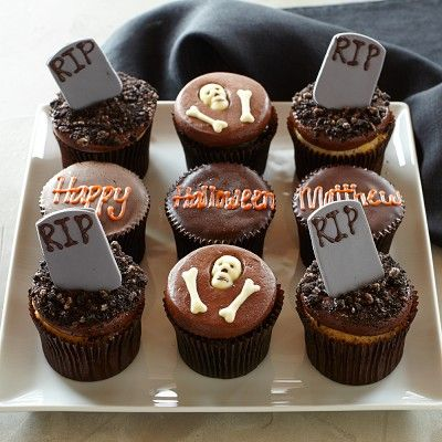 More® Personalized Halloween Graveyard Cupcakes, Set of 9 # ...