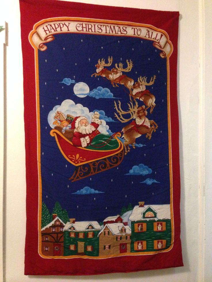 Wall hanging of Santa and his sleigh.. | My Christmas Decoration 2013 ...