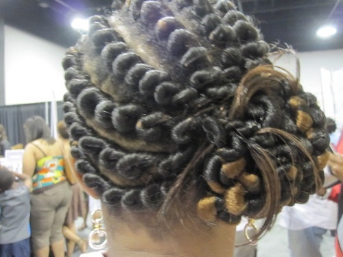 Lastest Bantu Knots And Flat Twist Natural Hairstyle  Thirstyrootscom Black