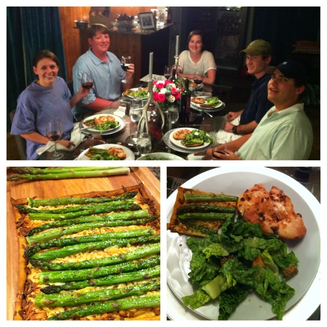 ... asparagus tart, and the avocado, lime, and cilantro salad dressing