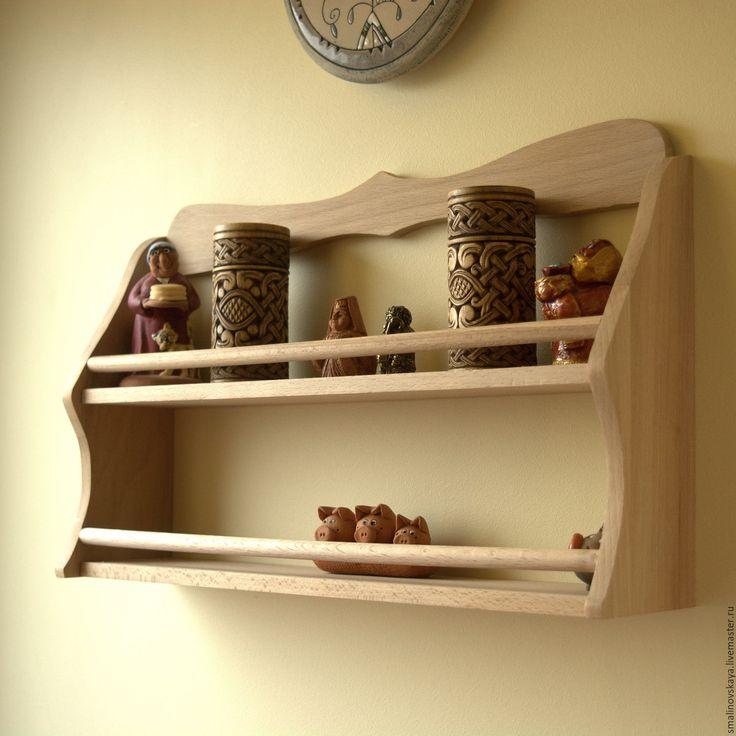 Полка на кухню своими руками из дерева фото