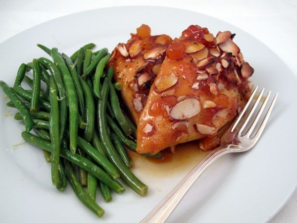 Baked Apricot-Orange Chicken with Almonds - Cook Like James