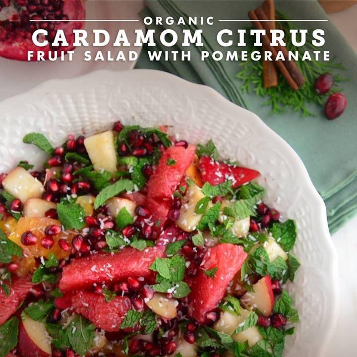 Organic Cardamom Citrus Fruit Salad with Pomegranate