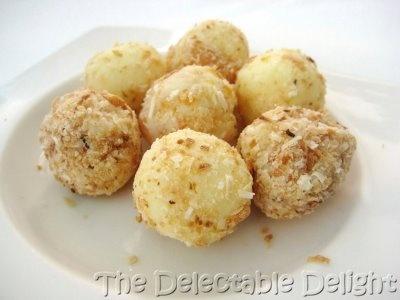 Aqua Dining, Milson's Point - White chocolate ganache balls, either ...