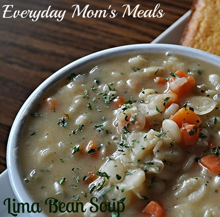 Lima Bean Soup~ A thick, hearty soup perfect for a rainy day. Creamy ...