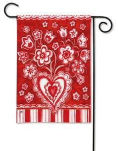 valentine garden flags
