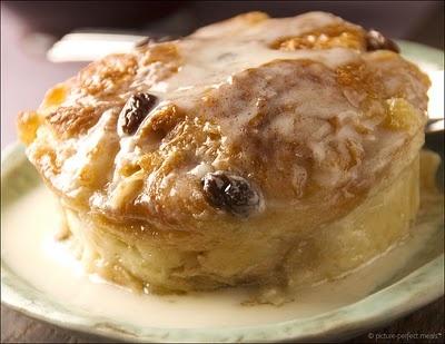 Rum Glazed Coconut Bread Pudding Recipe — Dishmaps