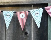 FOR HIGH CHAIR---Cat in the Hat / Dr Seuss Banner by iheartcupcakestoo on Etsy. $12.00 USD, via Etsy.