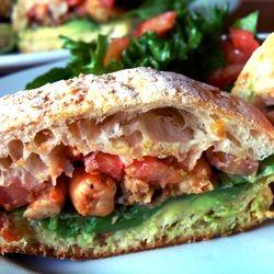 ... BLAST! That is, a bacon, lettuce, avocado, shrimp and tomato sandwich