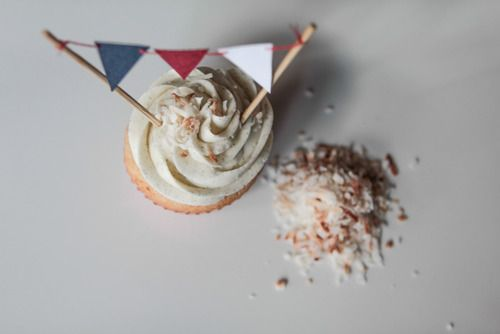 vanilla bean-coconut cupcakes with coconut frosting | www ...