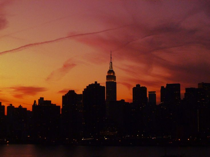 empire state building sunset - photo #23