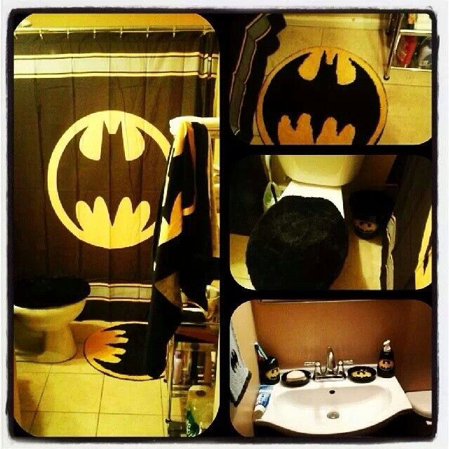 batman bathroom future home sweet home pinterest