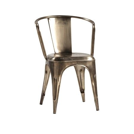 modern metal dining chair industrial furniture pinterest
