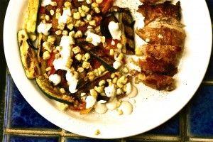 Grilled Chicken, Zucchini, Corn & Tomato Salad @ Ali in the Valley
