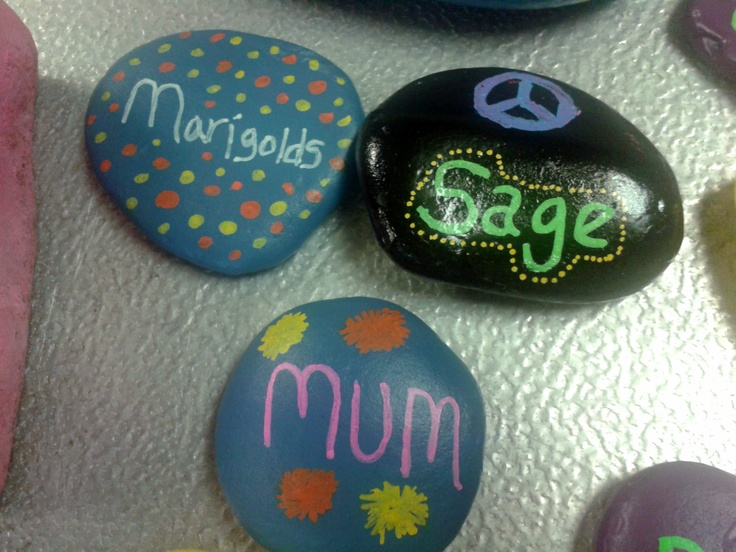 Pin by kimberly sitarski on painted rocks pinterest for Spray paint rocks for garden