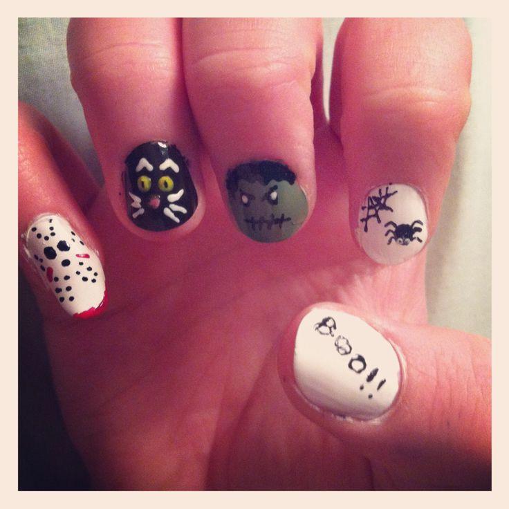 Halloween nail art | My Nails | Pinterest