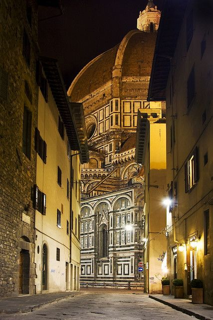 Florence at night, province of Florence, Tuscany region Italy