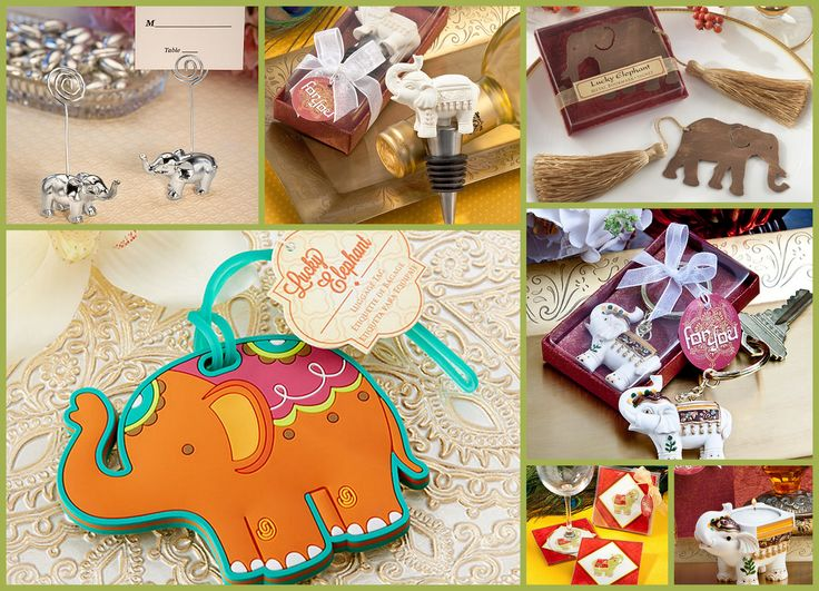 Elephant Wedding Party Favors from HotRef.com
