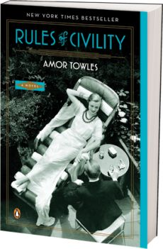 Amor Towles' Rules of Civility plunges you into Manhattan's glittering elite of the late 1930s. It is a true delight. #FridayReads
