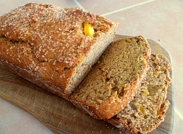 """vegan mango banana bread. """"This recipe is so quick and easy to throw ..."""