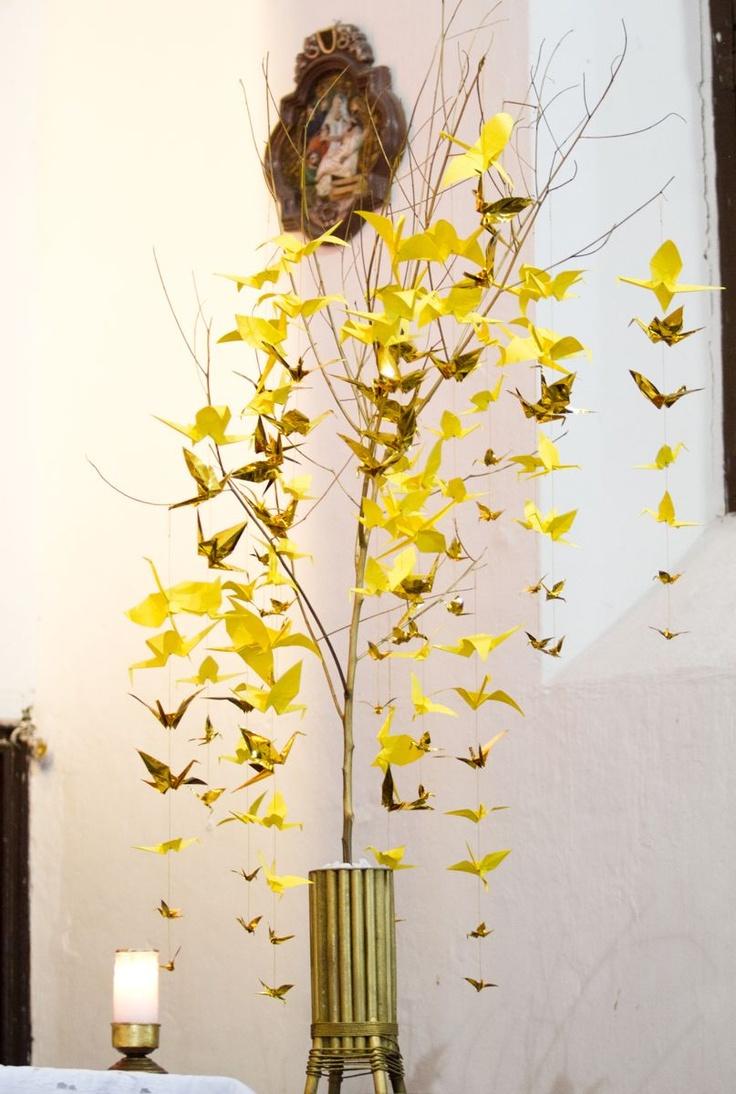 Decoracion Origami Matrimonio ~ Decoracion en origami para bodas www bodasenelcaribe com co