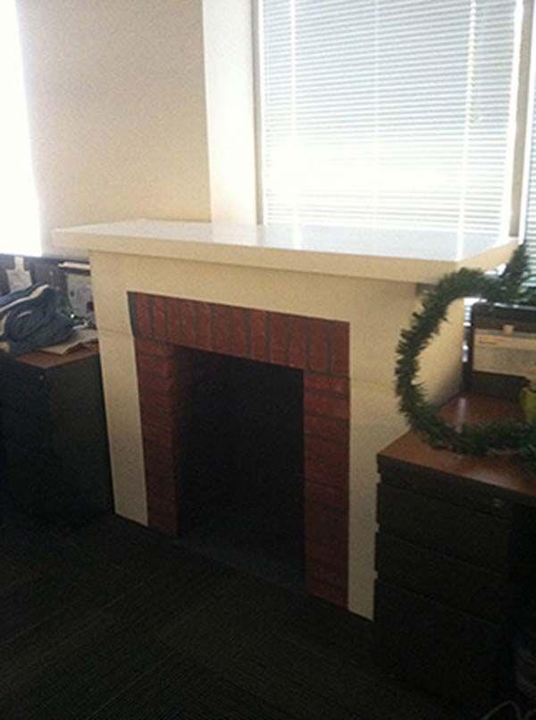 diy cardboard fireplace crafty ideas