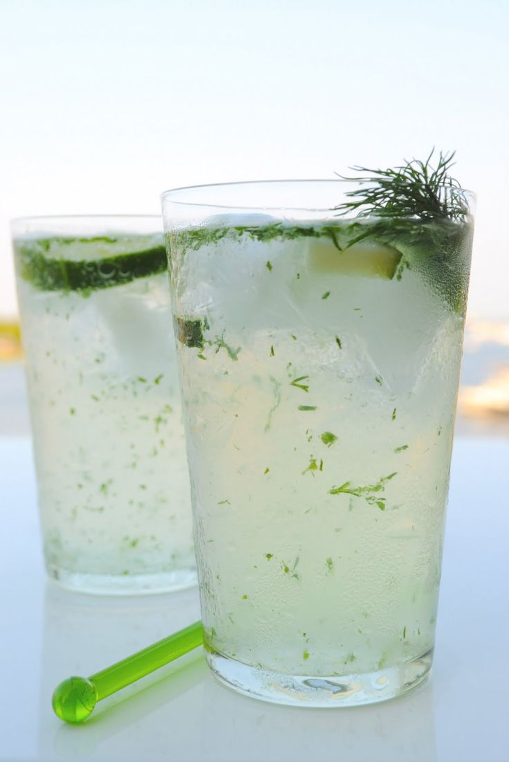 Cucumber Gin Fizz - SO good with Death's Door Gin