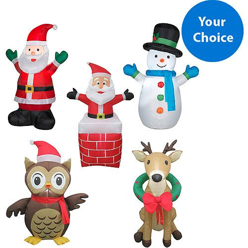 ... Inflatable You-Pick-2 Value Bundle: Christmas Decor : Walmart.com
