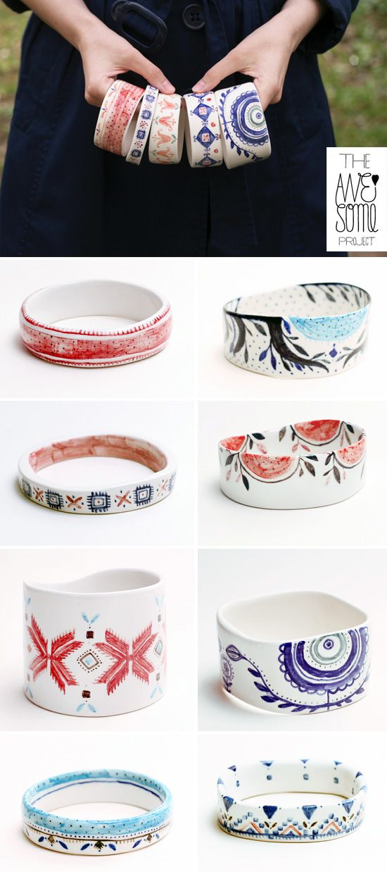 Beautiful porcelain jewelry