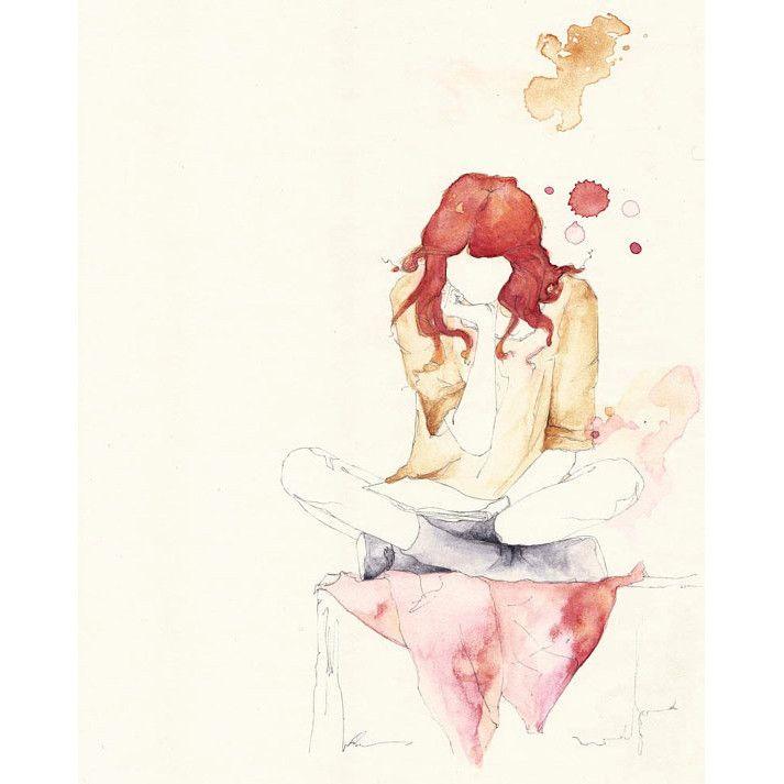 Girl Reading Print